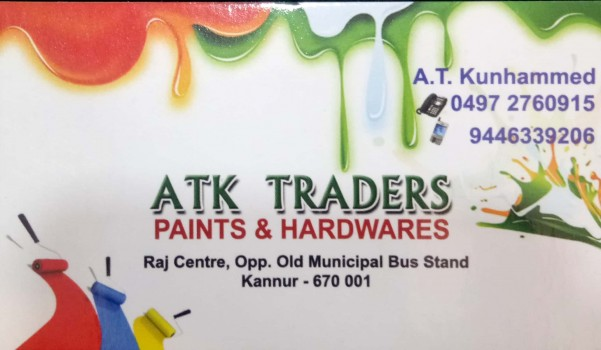 ATk TRADERS, PAINT SHOP,  service in Kannur Town, Kannur