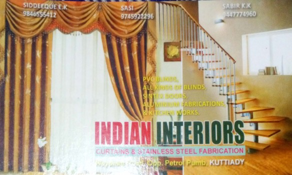 INDIAN INTERIORS, CURTAINS,  service in Kuttiady, Kozhikode