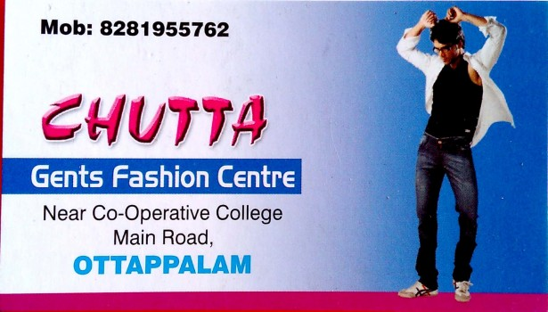 CHUTTA, GENTS WEAR,  service in Ottappalam, Palakkad