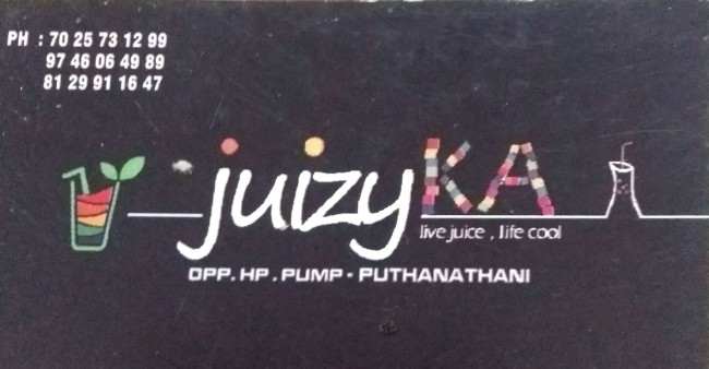 JUIZYKA, JUICE CORNER,  service in Puthanathani, Malappuram