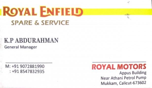 ROYAL MOTORS, LUBES AND SPARE PARTS,  service in Mukkam, Kozhikode