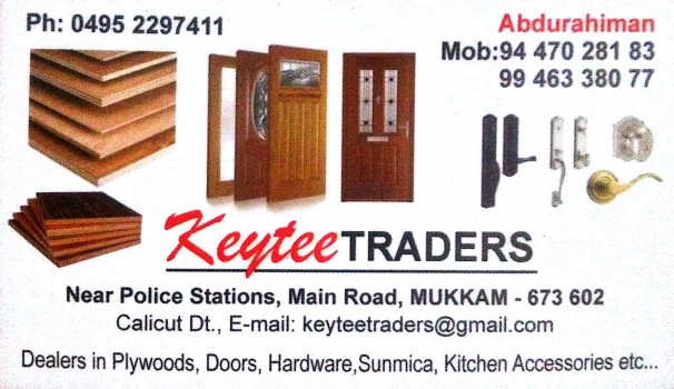 KEYTEE TRADERS, GLASS & PLYWOOD,  service in Mukkam, Kozhikode