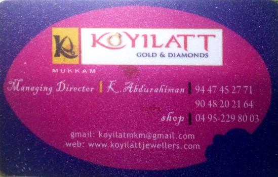 KOYILATT Gold and Diamonds, JEWELLERY,  service in Mukkam, Kozhikode