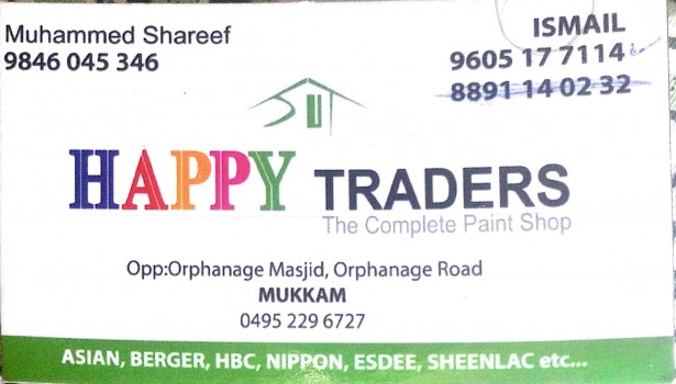 HAPPY TRADERS, PAINT SHOP,  service in Mukkam, Kozhikode