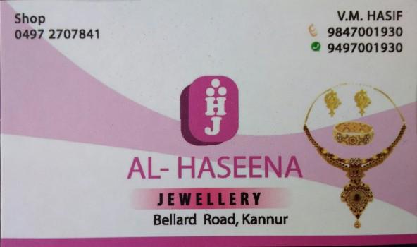 AL HASEENA JEWELLERY, JEWELLERY,  service in Kannur Town, Kannur