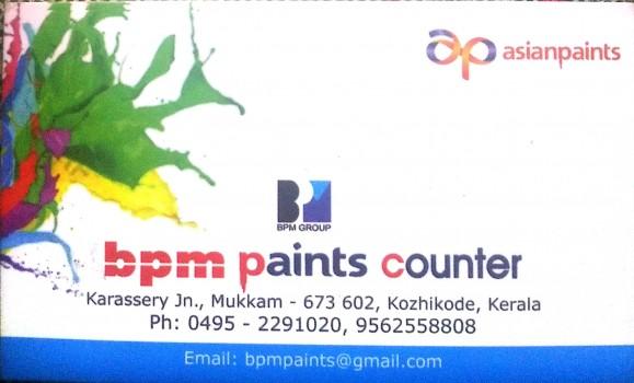BPM PAINTS COUNTER, PAINT SHOP,  service in Mukkam, Kozhikode