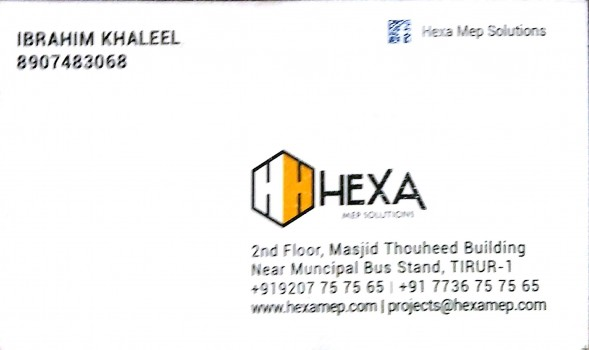 HEXA MEP SOLUTIONS, MEP TRAINING CENTRE,  service in Tirur, Malappuram