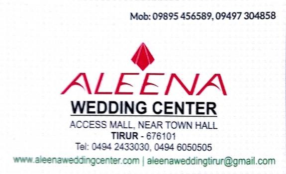 ALEENA WEDDING CENTER, WEDDING CENTRE,  service in Tirur, Malappuram