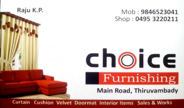 CHOICE Furnishing, CURTAINS,  service in Thiruvambadi, Kozhikode