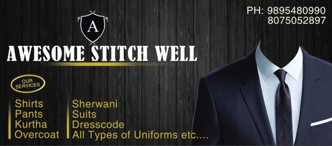 AWESOME STITCH WELL, TAILORS,  service in Kanjangad, Kasaragod