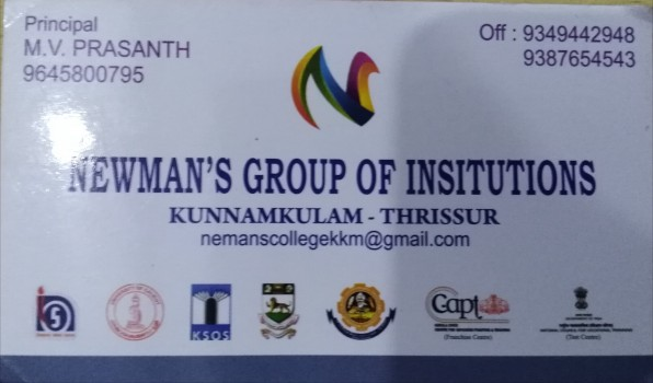 NEWMAN S GROUP OF INSTITUTIONS, COLLEGE,  service in Kunnamkulam, Thrissur