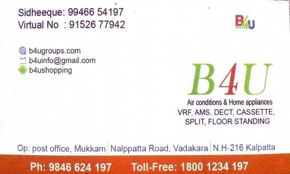 B4U GROUP, ELECTRONICS REPAIRING,  service in Mukkam, Kozhikode