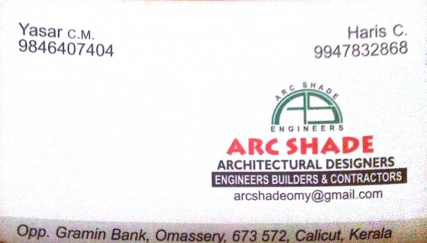 ARC SHADE, INTERIOR & ARCHITECTURE,  service in Omassery, Kozhikode