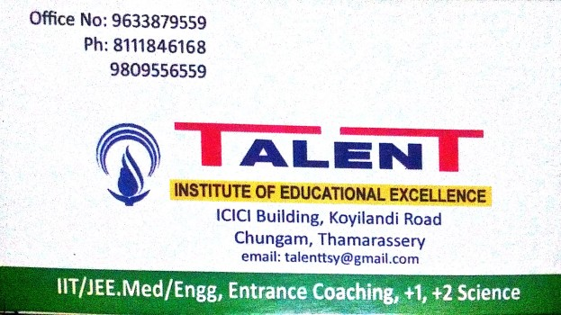 TALENT, ENTRANCE COACHING CENTRE,  service in Thamarassery, Kozhikode