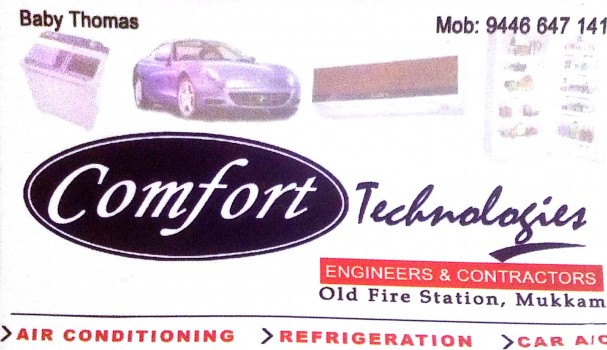 COMFORT, AC REFRIGERATION SALES & SERVICE,  service in Mukkam, Kozhikode
