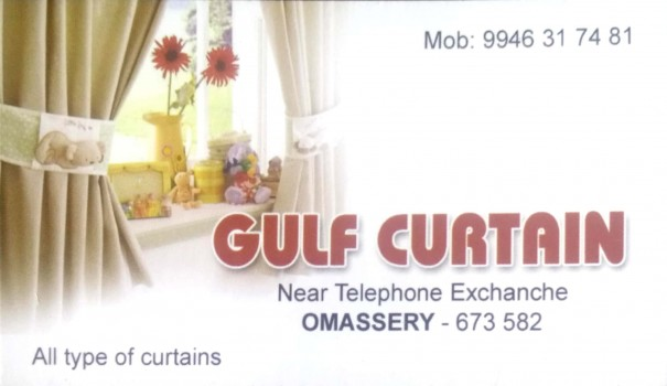 GULF CURTAIN, CURTAINS,  service in Omassery, Kozhikode
