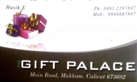 GIFT PALACE, GIFT & TOYS,  service in Mukkam, Kozhikode