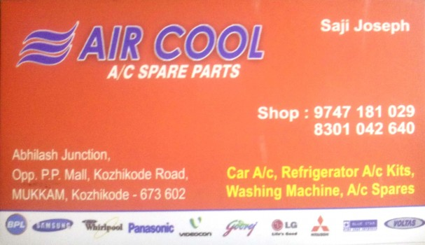 AIR COOL Ac Spare parts, AC REFRIGERATION SALES & SERVICE,  service in Mukkam, Kozhikode