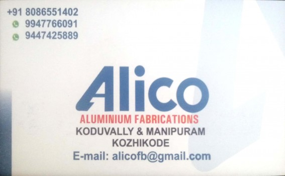 ALICO, ALUMINIUM FABRICATION,  service in Koduvally, Kozhikode