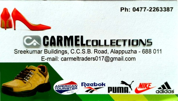 CARMEL COLLECTIONS, FOOTWEAR SHOP,  service in Alappuzha, Alappuzha
