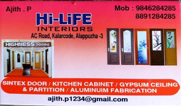 HI LIFE INTERIORS, INTERIORS SHOP,  service in Alappuzha, Alappuzha