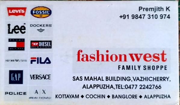 FASHION WEST, LADIES & KIDS WEAR,  service in Alappuzha, Alappuzha